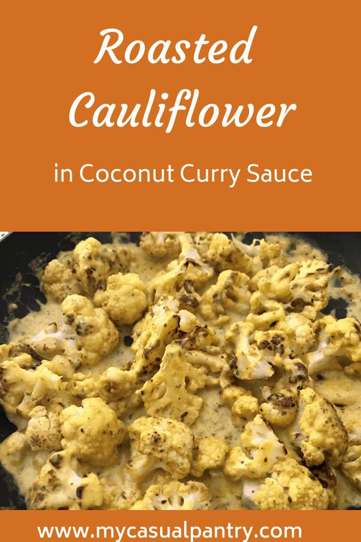 Roasted Cauliflower in Coconut Curry Sauce