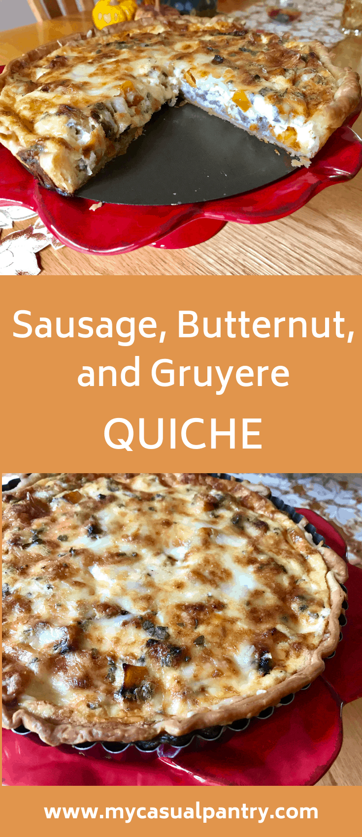 Sausage Butternut and Gruyere Quiche