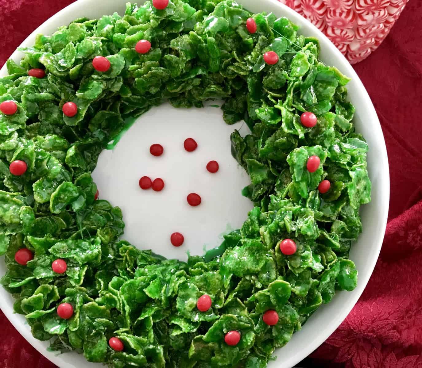 Marshmallow Christmas Wreath
