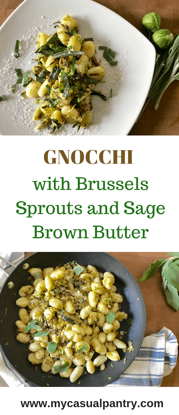 Gnocchi with Brussels Sprouts and Sage Brown Butter
