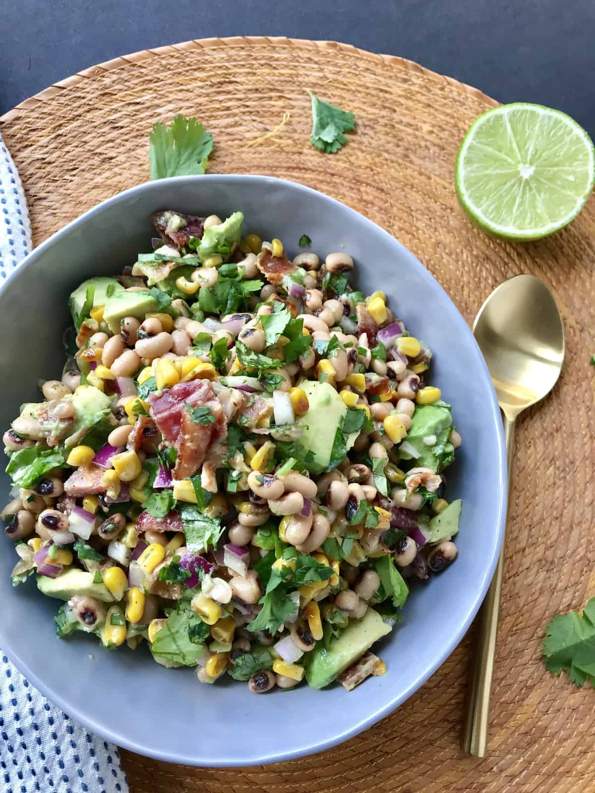 Black-Eyed Pea Salad with Corn and Avocado
