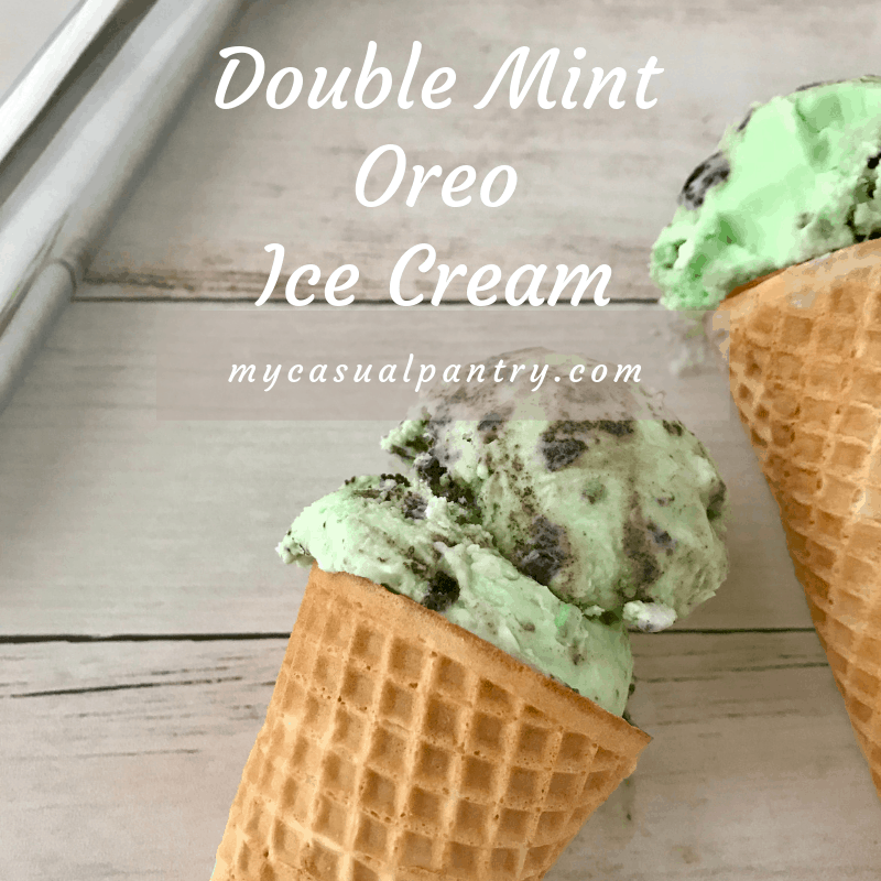 Double Mint Oreo Ice Cream