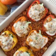 Turkey Sausage Stuffed Peppers