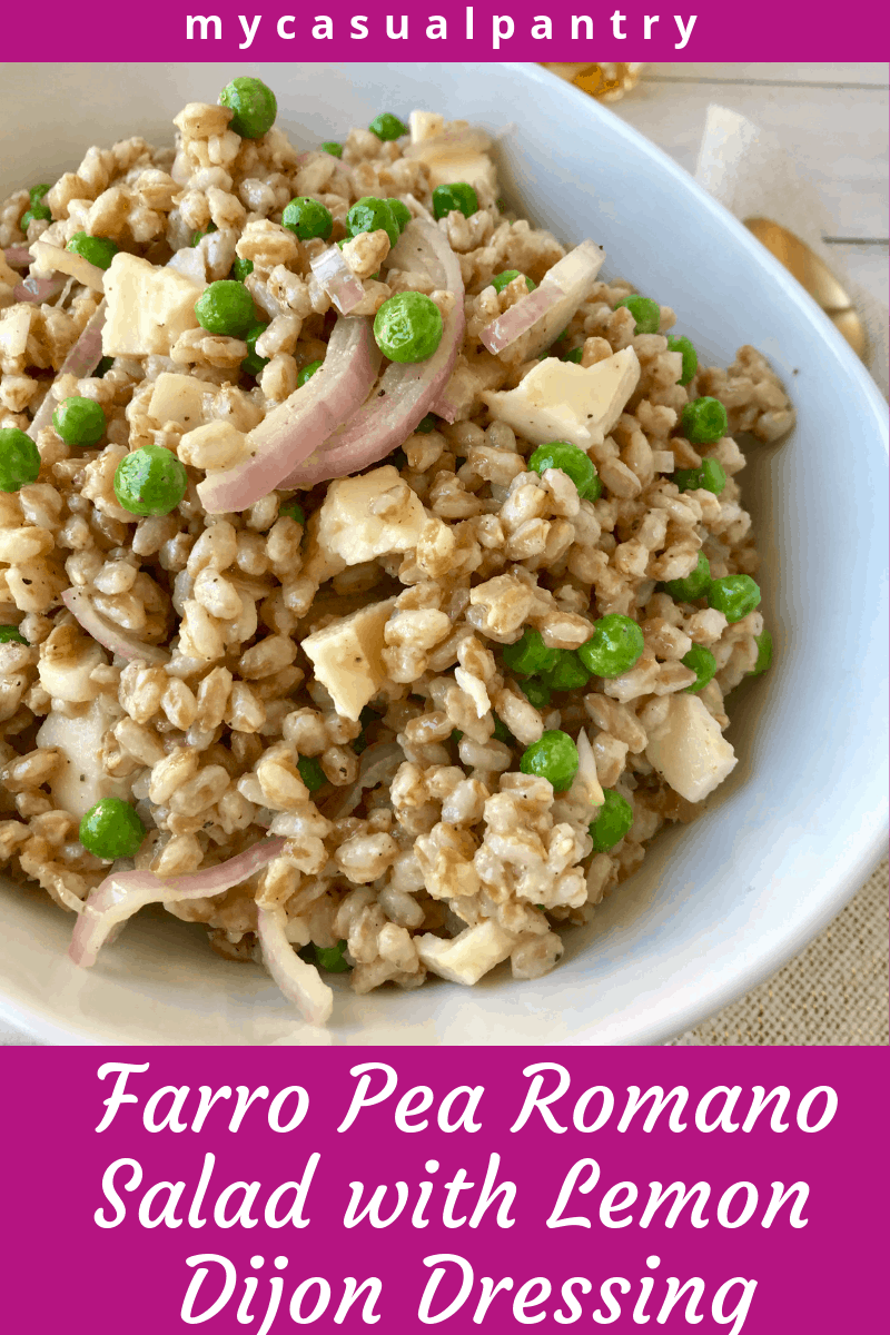 Farro Pea Romano Salad with Lemon Dijon Dressing