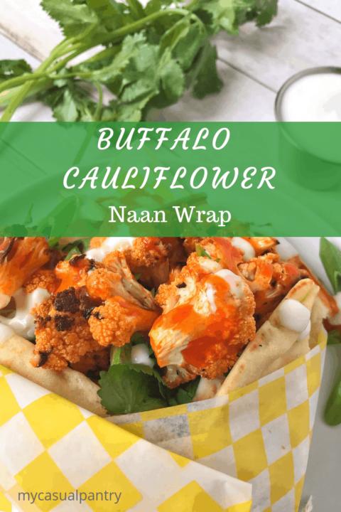 Buffalo Cauliflower Naan Wrap