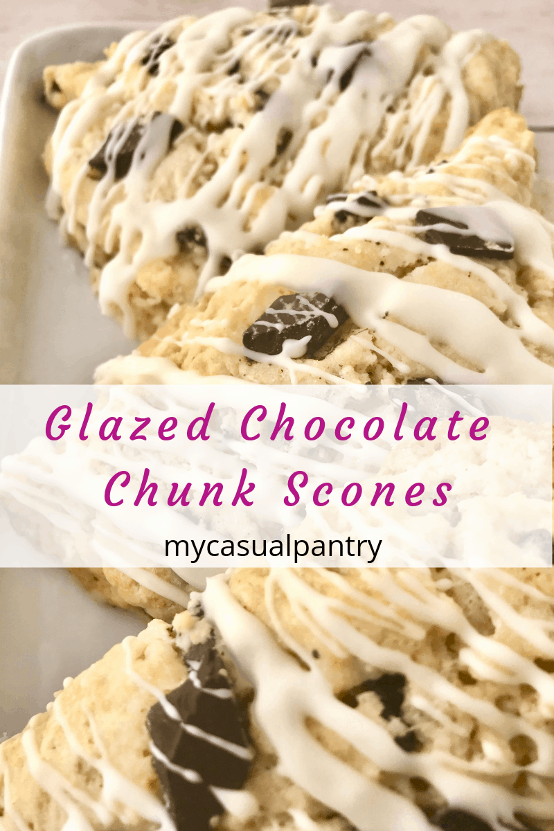 Glazed Chocolate Chunk Scones