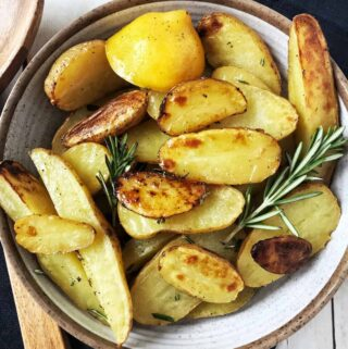 Lemon Rosemary Roasted Fingerling Potatoes