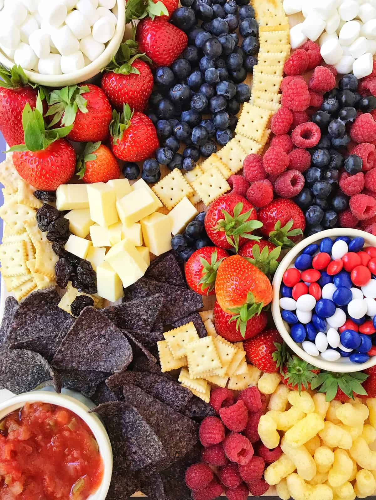 patriotic snack board