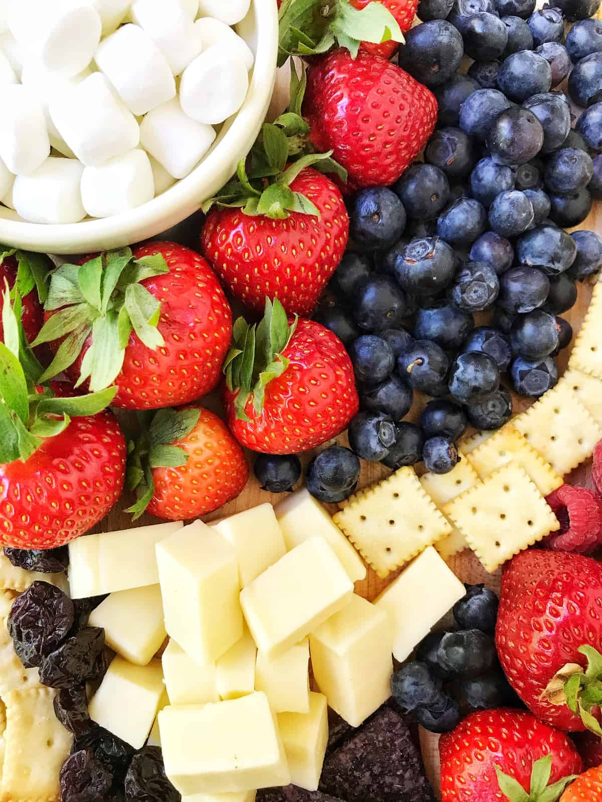 Red White and Blue Snack Board