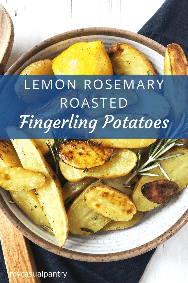 bowl of lemon rosemary potatoes