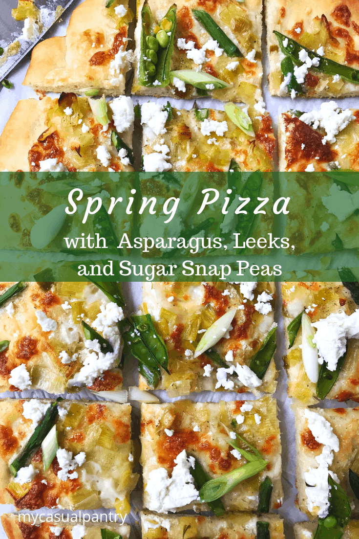 Spring Pizza with Asparagus, Leeks, and Sugar Snap Peas