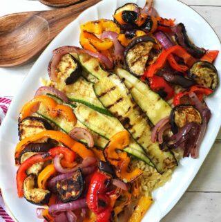Grilled Vegetables with Orzo and Lemon Dijon Vinaigrette