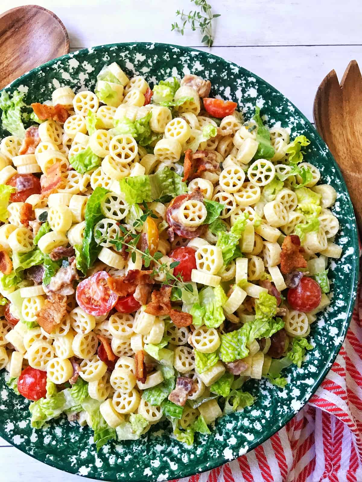 BLT Pasta Salad with Creamy Dressing