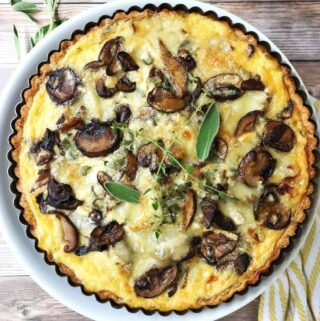 Mushroom and Brie Quiche