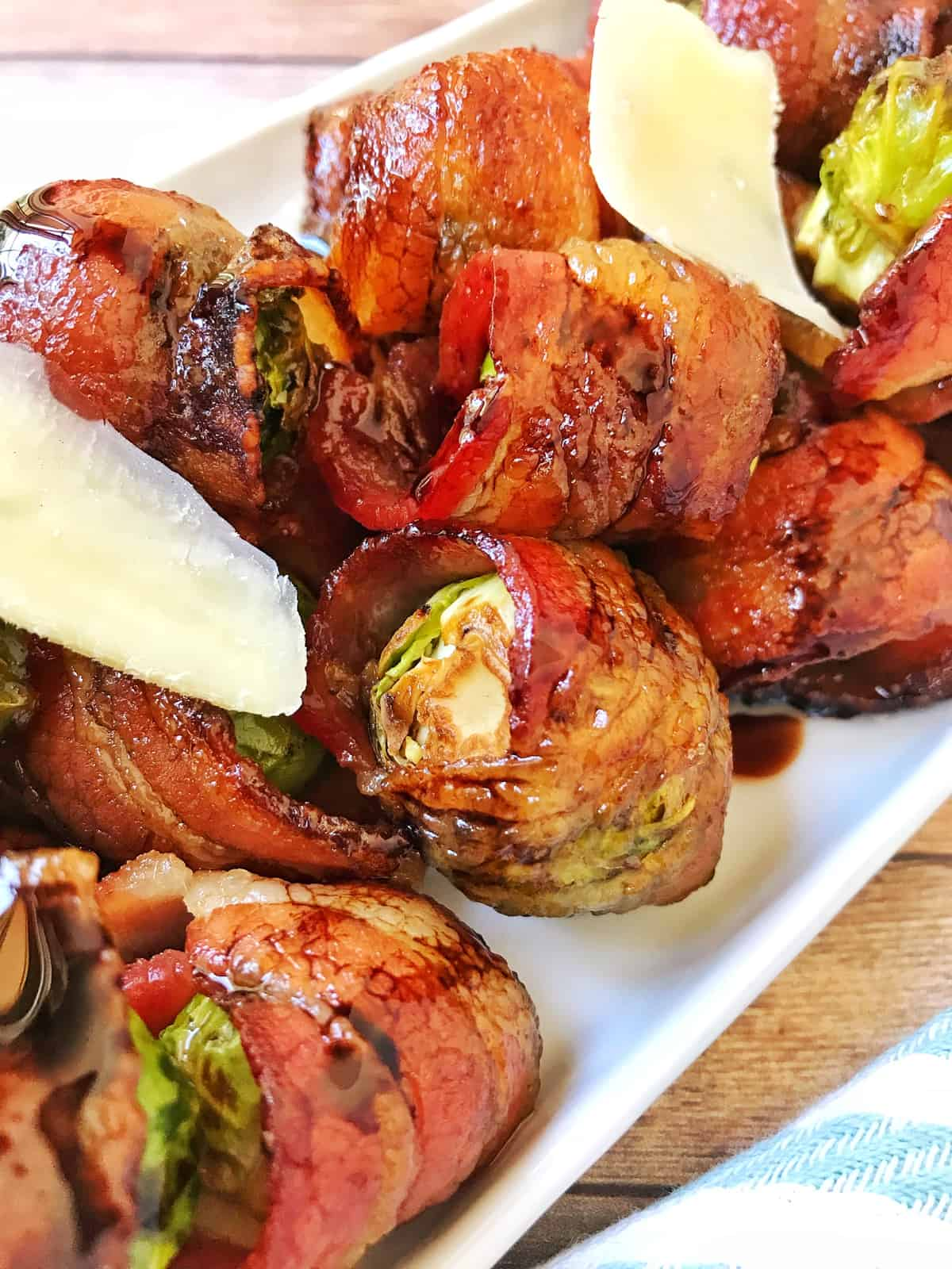 Bacon-Wrapped Balsamic Brussels Sprouts