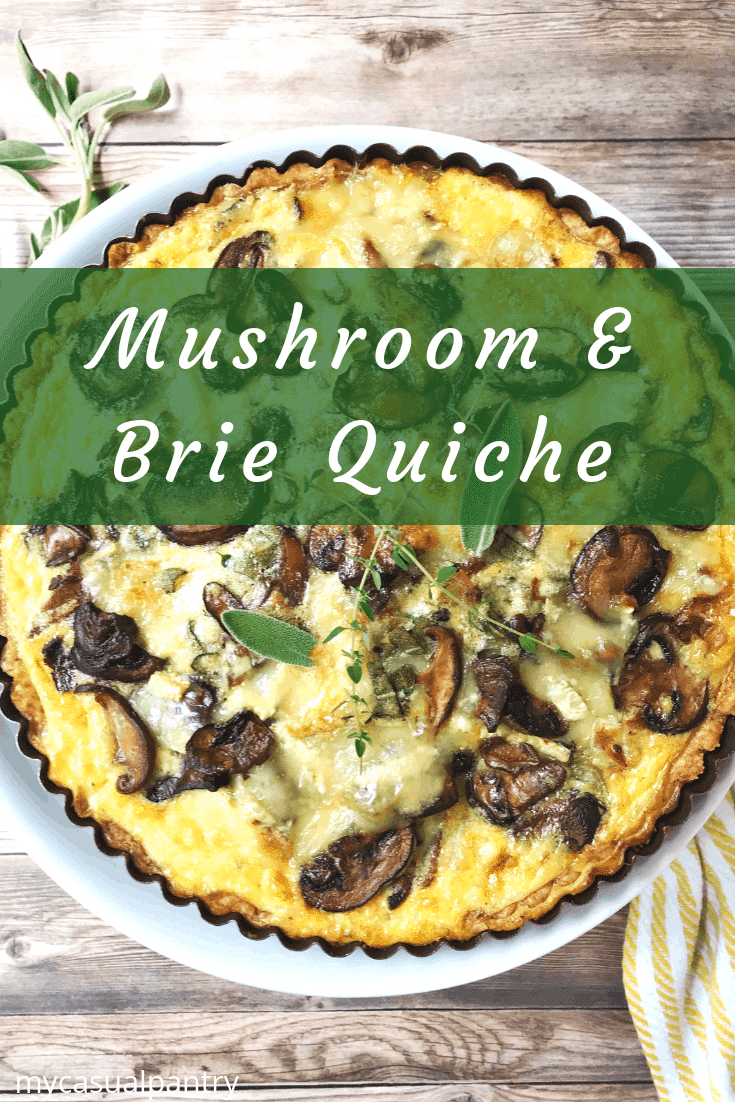 Mushroom and Brie Quiche