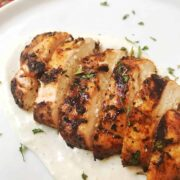 Grilled Balsamic Chicken with Blue Cheese Sauce