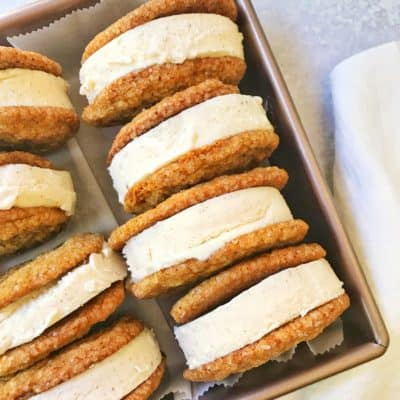 Molasses Cookies and Cinnamon Ice Cream Sandwiches