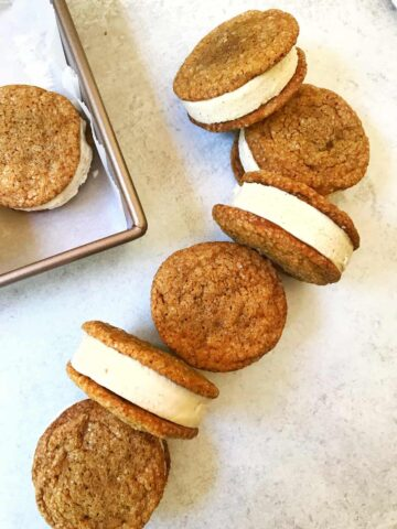 Molasses Cookies and Cinnamon Ice Cream Sandwiches