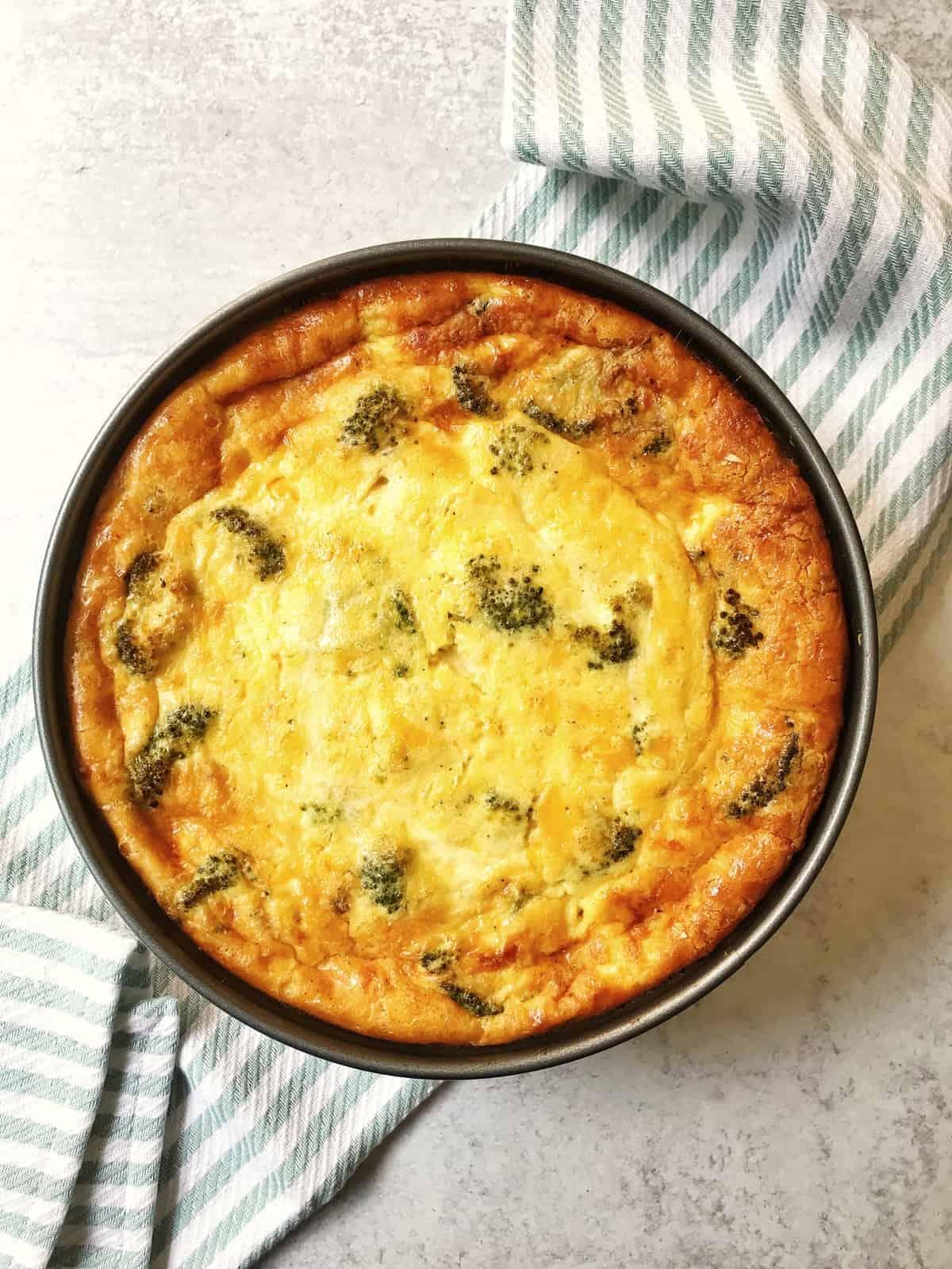 Broccoli, Ham and Cheddar Quiche