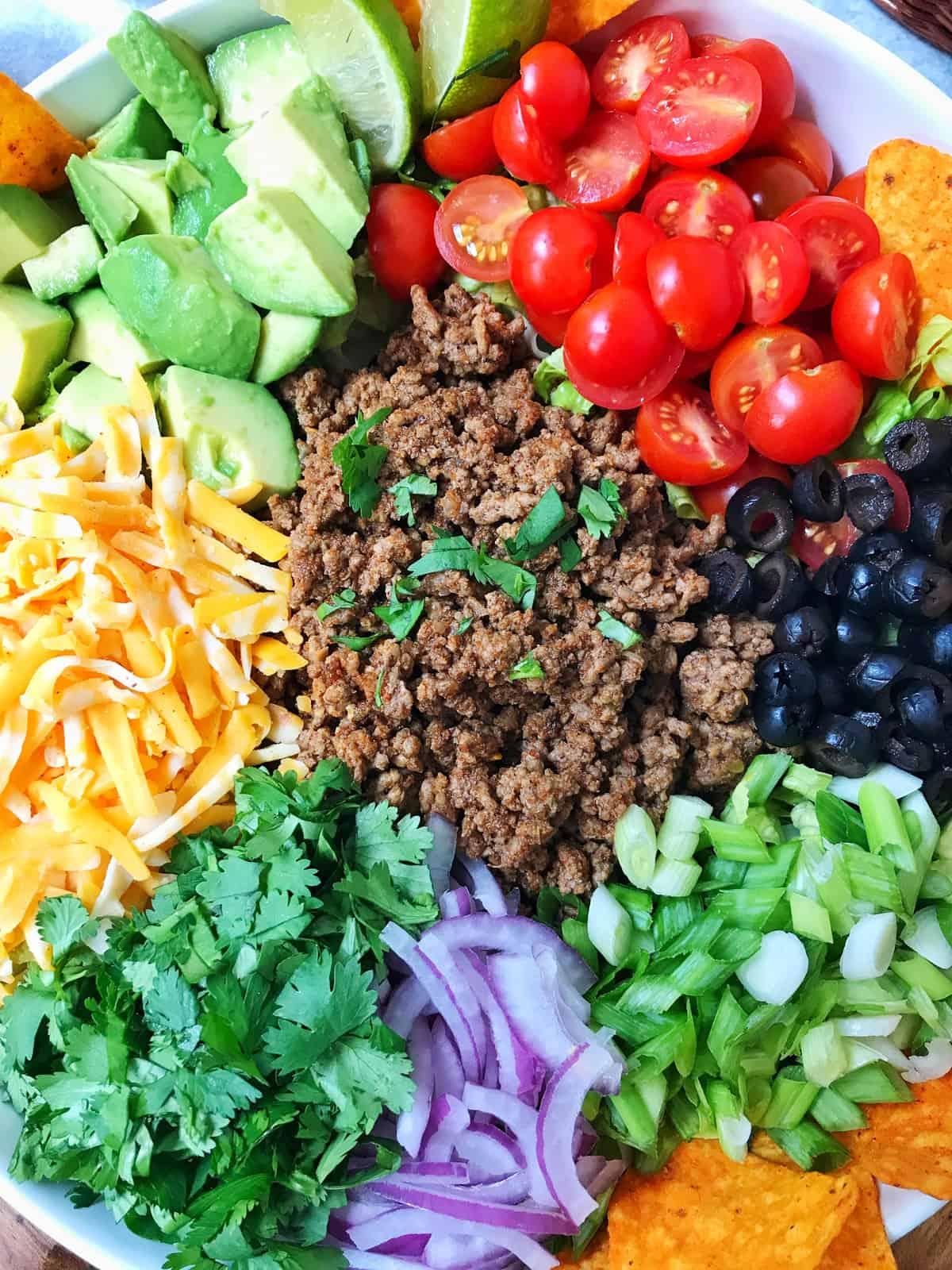 Chopped Dorito Taco Salad