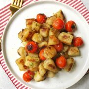 Easy Cauliflower Gnocchi with Pesto and Blistered Tomatoes