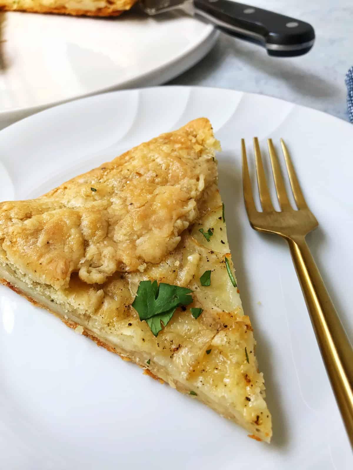 Slice of Potato and Gruyere Galette