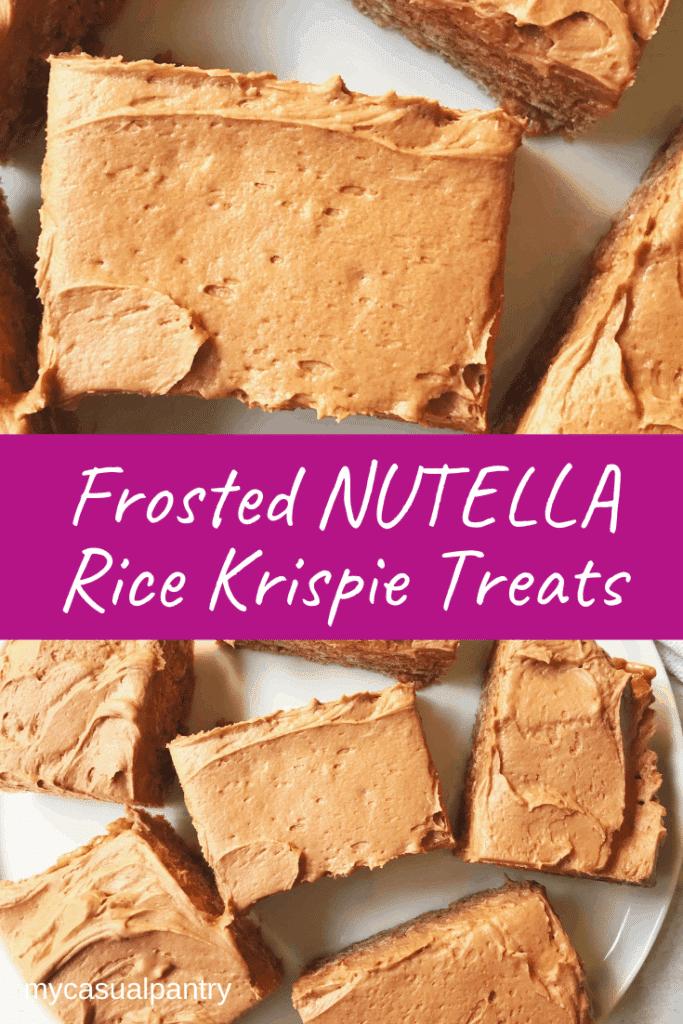 Frosted Nutella Rice Krispie Treats