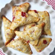 Cherry Pie Turnovers with Almond Orange Glaze