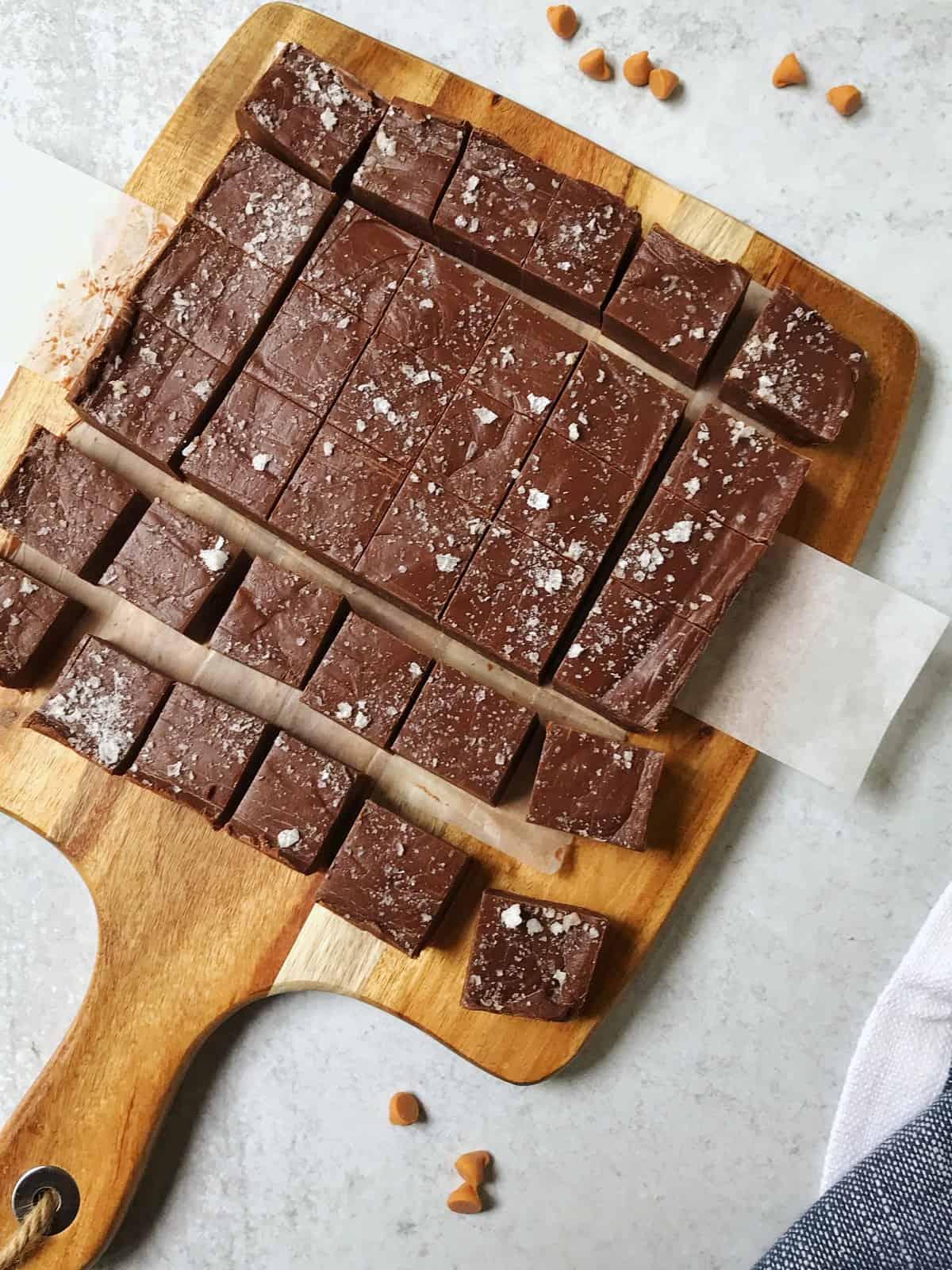 Salted Chocolate Butterscotch Fudge