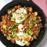 Roasted Potato Hash with Chorizo and Eggs
