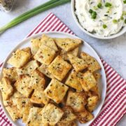 Everything Bagel Crackers with Whipped Scallion Cream Cheese
