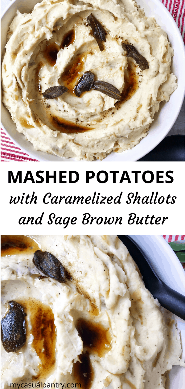 Mashed Potatoes with Caramelized Shallots and Sage Brown Butter