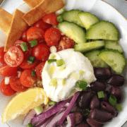 Greek Rice Bowl with Feta Spread