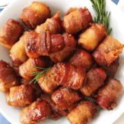 Maple Dijon Bacon Wrapped Smoked Sausage