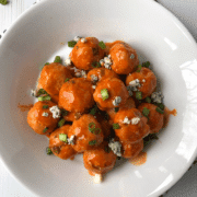 Blue Cheese-Stuffed Buffalo Chicken Meatballs