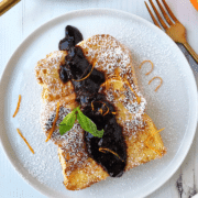 Brioche French Toast with Blueberry Syrup