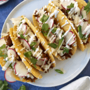 Chorizo Tacos with Lime Crema