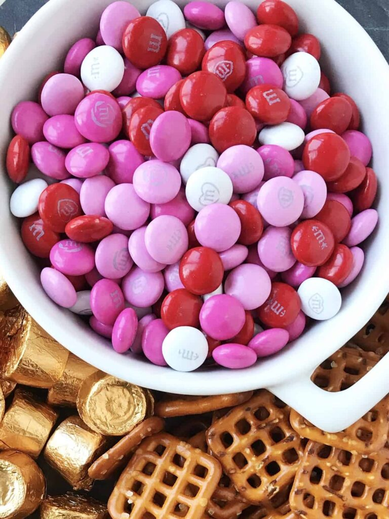 brightly-colored bowl of M&M candies