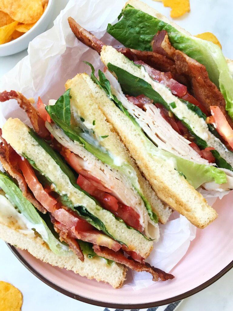 close up of sandwich