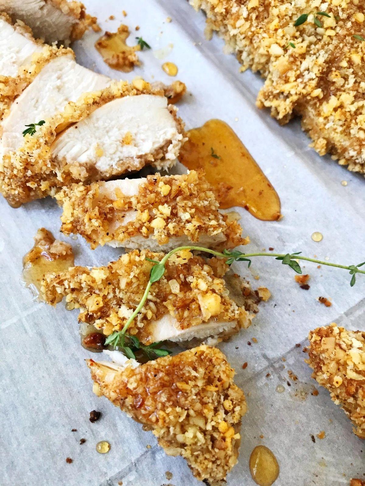 walnut chicken with chipotle honey