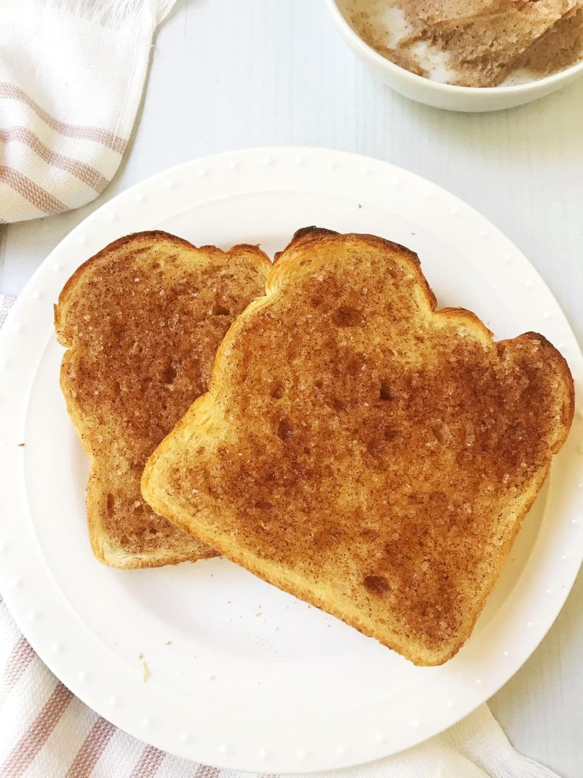 slice of cinnamon sugar toast