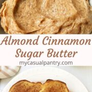 cinnamon toast and dish of butter