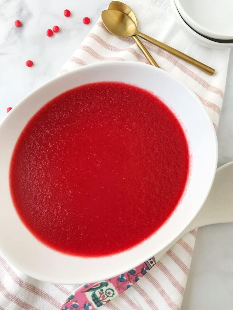 serving bowl of jello