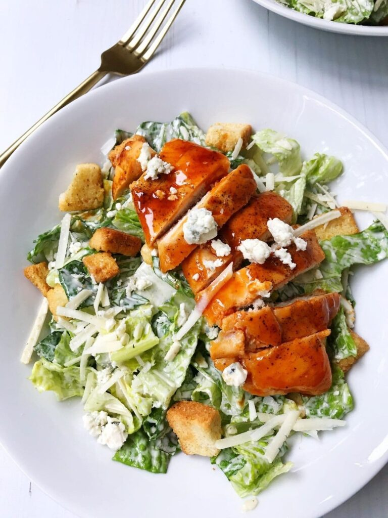 bowl of salad with chicken