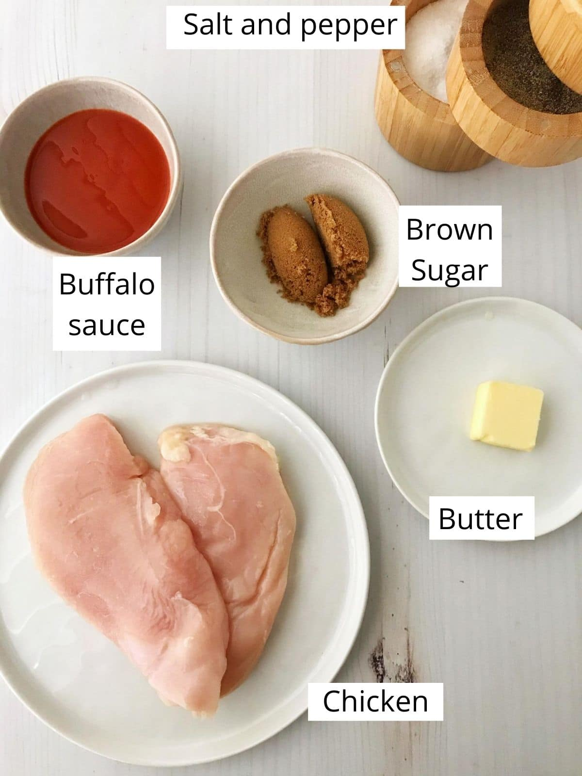 buffalo sauce ingredients, labled