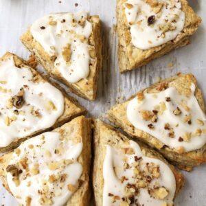 scones with glaze ready to serve