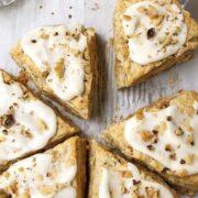 scones on serving board
