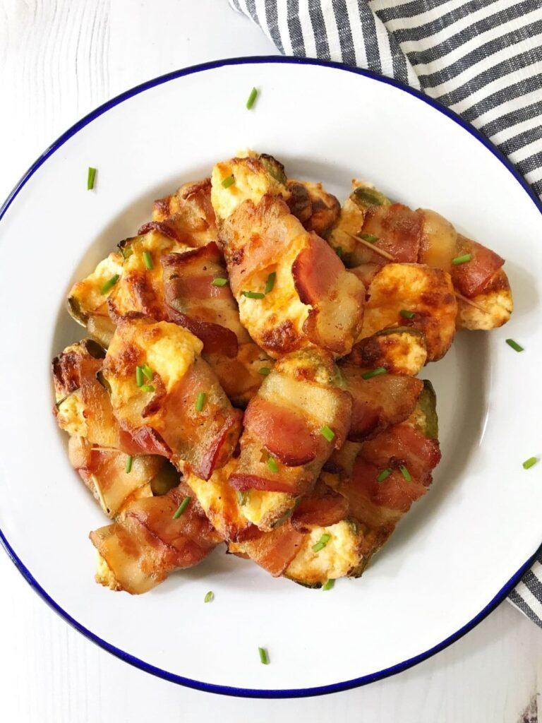 plate of crispy baked jalapeno poppers