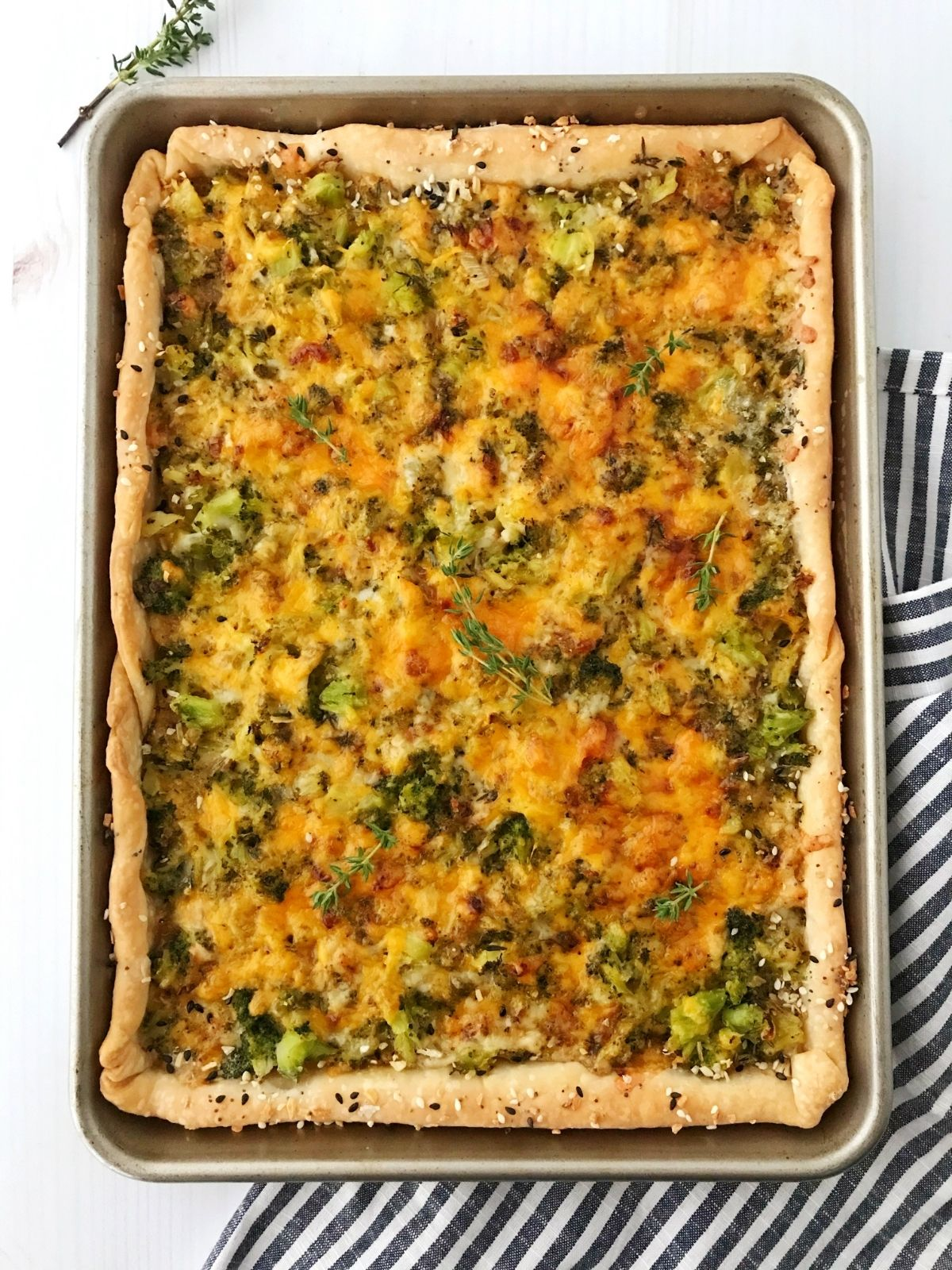 baked tart in sheet pan